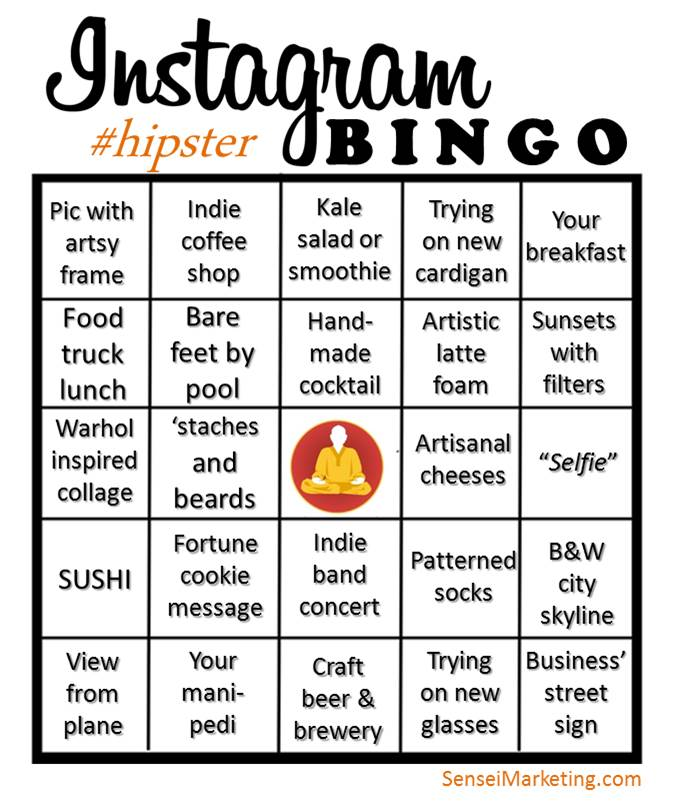 Viral Content More Than Just Number Of Views: Hipster Instagram Bingo