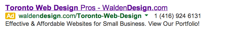 walden design google adwords ad