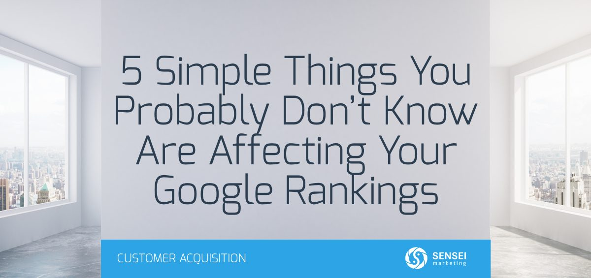 factors affecting google rankings