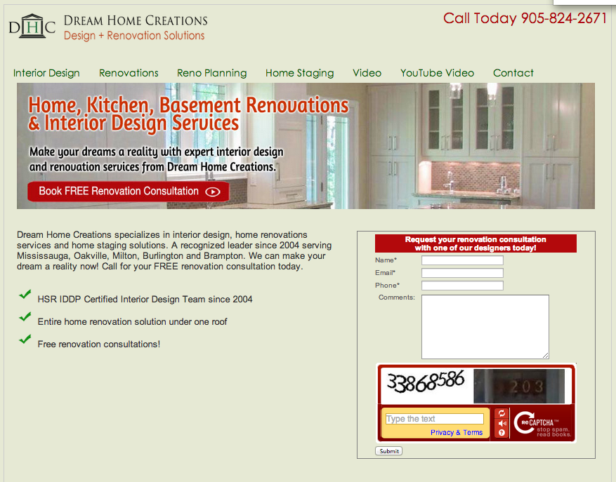 Scoring Google Ads Landing Pages For Kitchen Renovation Oakville Sensei Marketing