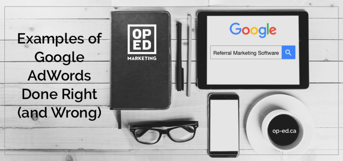 Google adwords examples for referral marketing software