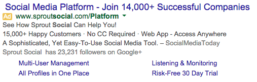 highlight trust in google ad example
