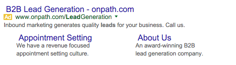 OnPath Google AdWords Example