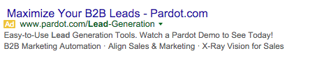 Pardot Google AdWords Example