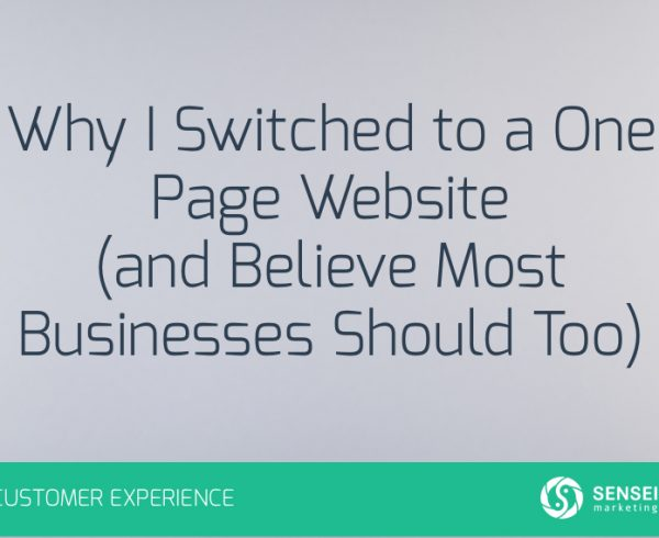 Why I Switched to a One Page Website
