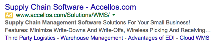 google adwords supply chain management software