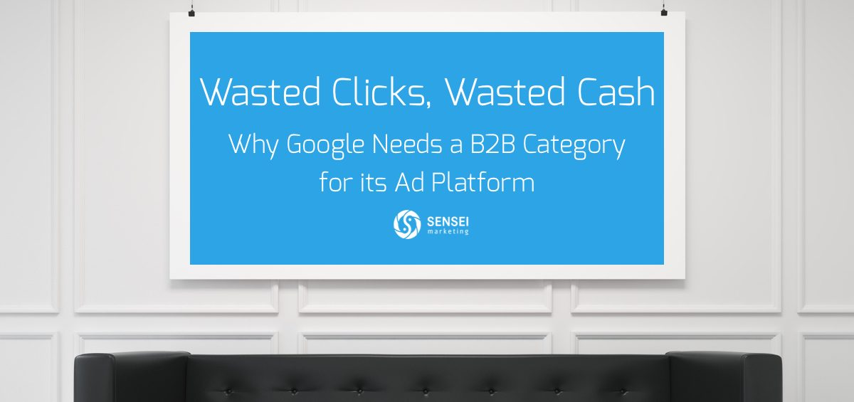 google needs b2b category