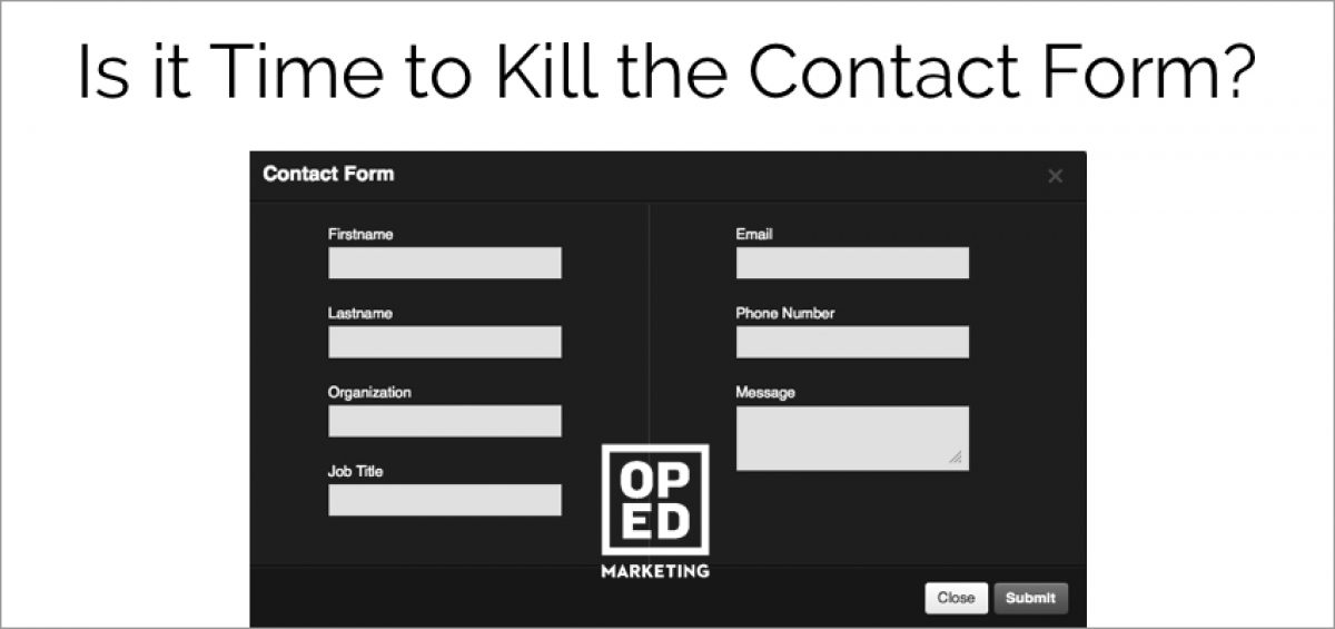 Time to Kill the Contact Form