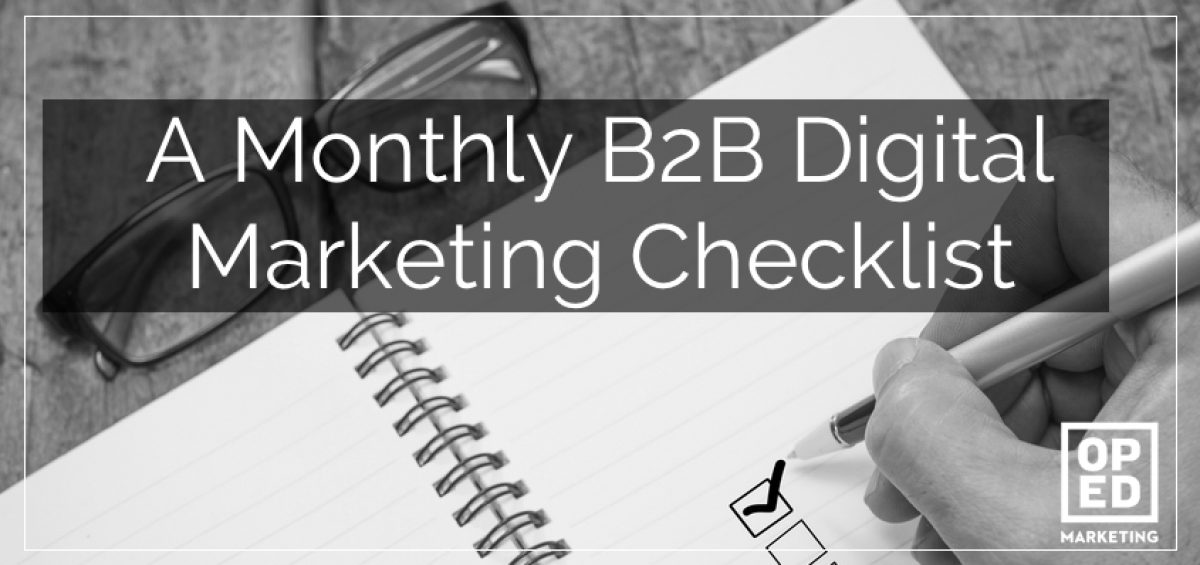 b2b marketing checklist