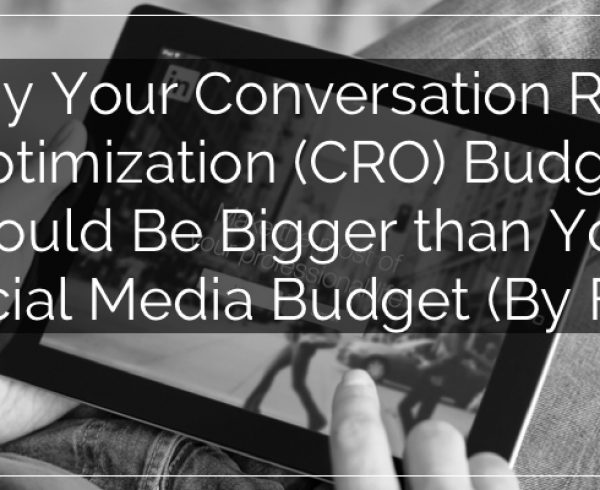 budgeting for conversion rate optimization (CRO)