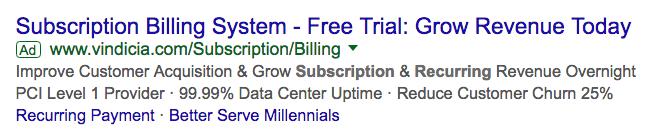google adwords ad example