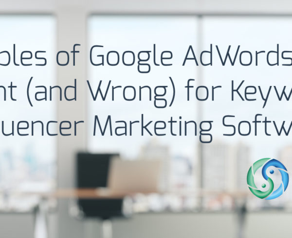 google ads landing page examples influencer marketing software