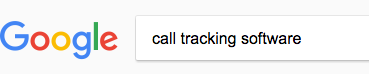 call tracking software google search