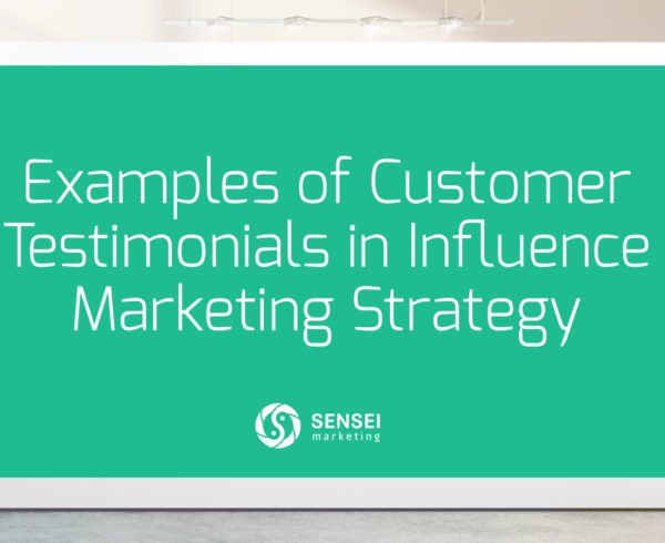 influence marketing strategy using testimonials