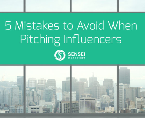 things to avoid pitching influencer marketing