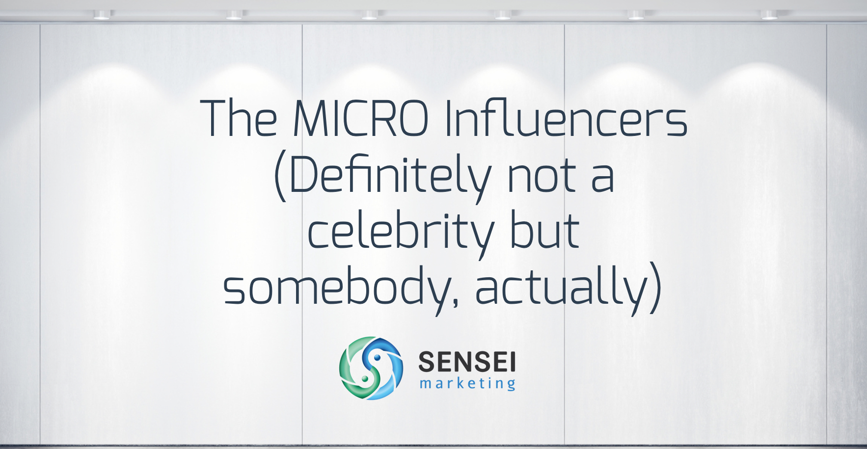 The MICRO Influencers (Definitely not a celebrity but