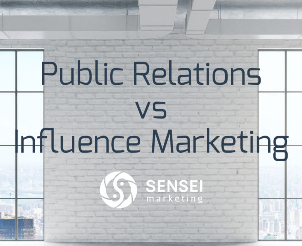 public relations versus influence marketing