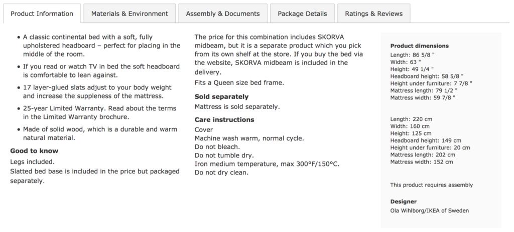good product description copy