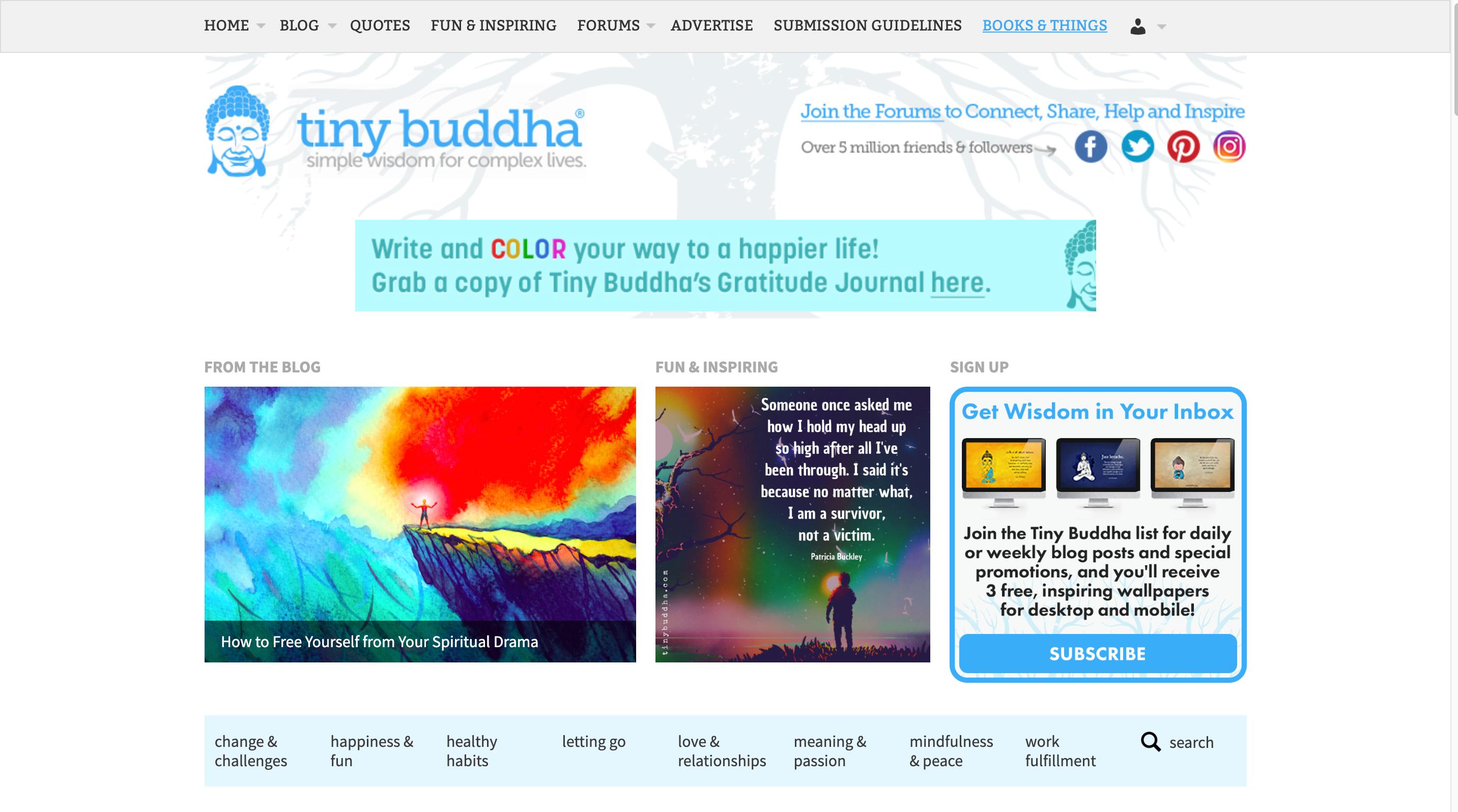 Tiny Buddha owned social media community